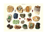 Samples of Gemstones - Poster