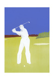 Phantom Golfer Taking Swing Posters