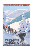 Travel Poster for Vosges Reprodukcje