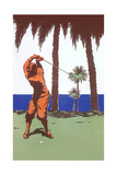 Golfing in the Tropics Print