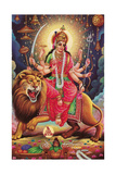 Kali Riding Lion Posters