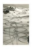 Ski Trails in Snow Umění