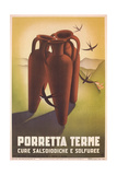 Travel Poster for Porretta Terme Art