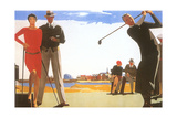 Golfing on the Beach Posters