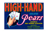 High Hand Pear Label Posters