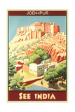 India Travel Poster, Jodhpur Posters