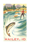 Travel Poster Hailey, Trout Fishing Art
