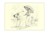 Golfing in the Rain Prints