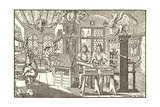 Woodcut of Old Print Shop Prints