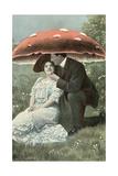 Couple under Giant Poison Mushroom Prints