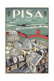 Travel Poster for Pisa Prints