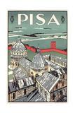 Travel Poster for Pisa Prints