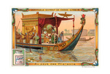 Pharaoh on Nile Barge Prints