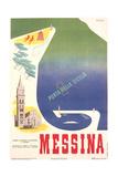 Travel Poster for Messina Prints