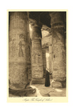 Pillars at Abydos Temple Print