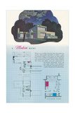 Modern Home and Floor Plan Poster