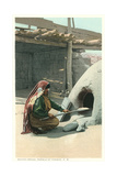 Bread Making, Tesuque Pueblo Posters