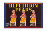 Repetition Pear Label Posters