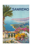 Travel Poster for San Remo Prints