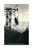 Ski Lift, Sun Valley Print