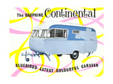 Dauphine Continential Travel Trailer Prints