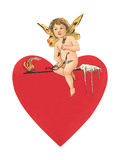Fire and Ice Valentine with Cupid Posters
