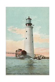 Graves Lighthouse, Boston Harbor Poster
