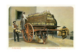 Wagon Loaded with Chianti Bottles Poster