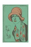 Woman in Cloche Hat Prints