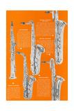 Five Saxophones Poster