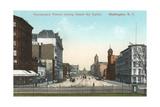 Vintage Pennsylvania Avenue, Capitol Poster