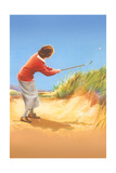 Woman in Sand Trap Prints