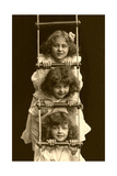 Three Girls on Rope Ladder Print