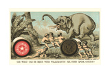 Elephant Pulling over Column Posters