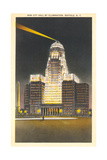 City Hall at Night, Buffalo Prints