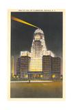 City Hall at Night, Buffalo Prints