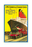 Ship and Rail Travel Poster Art