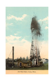Oil Well Shot, Lima Print