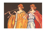 Double Flute Players Prints