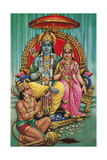 Shiva and Parvati with Hanuman Posters