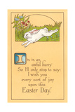 Easter Poem with Bunny - Poster