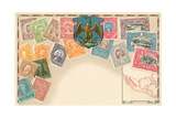 Variety of Mexican Stamps Posters