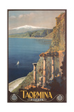 Travel Poster for Taormina Art