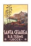 Travel Poster for Santa Cesarea Print