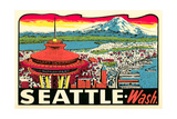 Decal of Seattle Posters