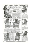 Baby Carriages in Sears Roebuck Catalog Print