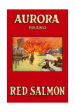 Aurora Red Salmon Posters
