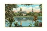 Notre Dame, South Bend Premium Giclee-trykk
