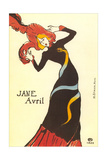 Jane Avril Poster - Reprodüksiyon