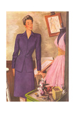 Woman in Purple Suit Art